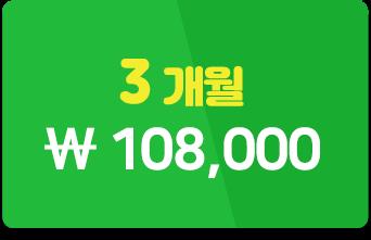 3개월 108,000원