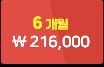 6개월 216,00원